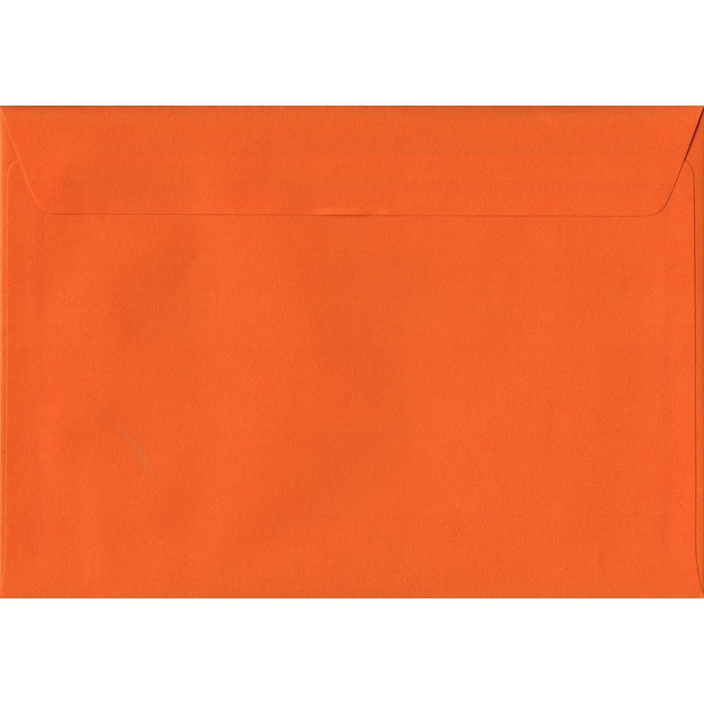 Orange Plain Peel And Seal C6 114mm x 162mm Individual Coloured Envelope