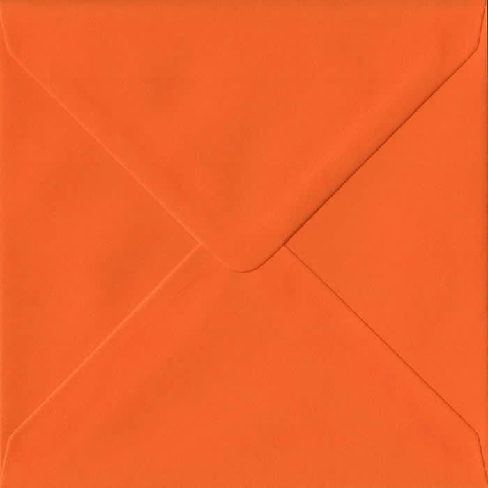 Orange Plain Gummed S4 155mm x 155mm Individual Coloured Envelope
