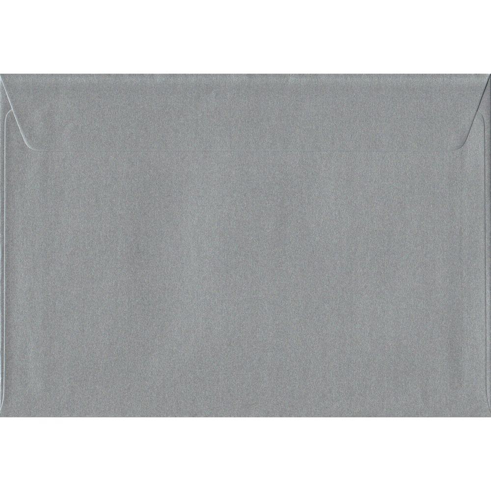 Silver Metallic Peel And Seal C5 162mm x 229mm Individual Coloured Envelope