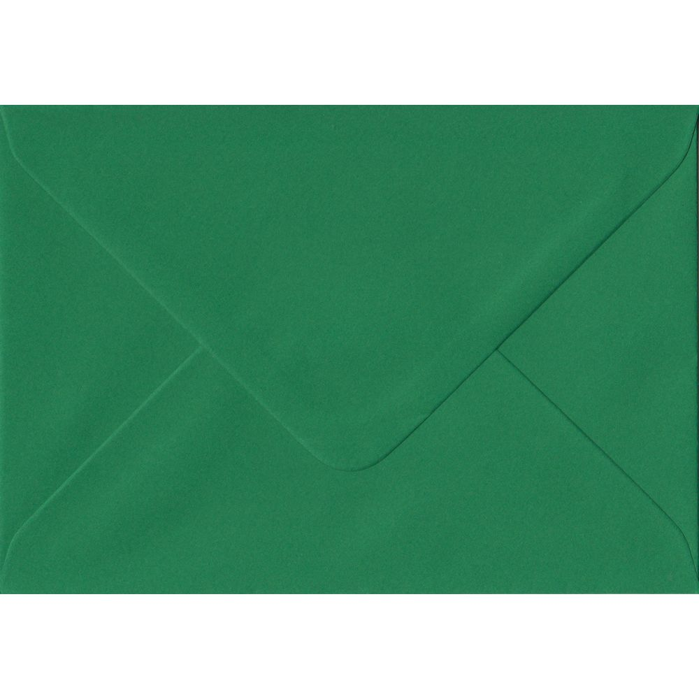 Xmas Green Premium Gummed C6 114mm x 162mm Individual Coloured Envelope