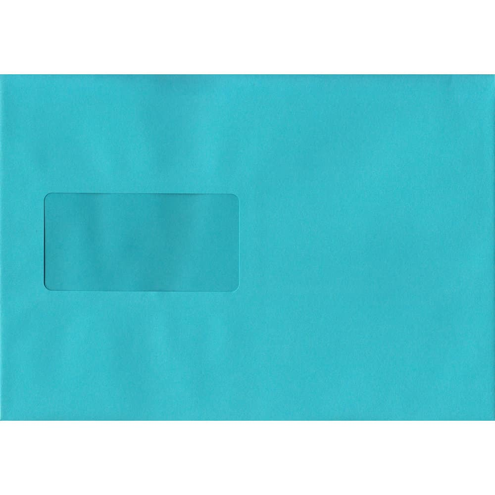 Cocktail Blue Windowed 162mm x 229mm 120gsm Peel/Seal C5/A5/Half A4 Sized Envelope