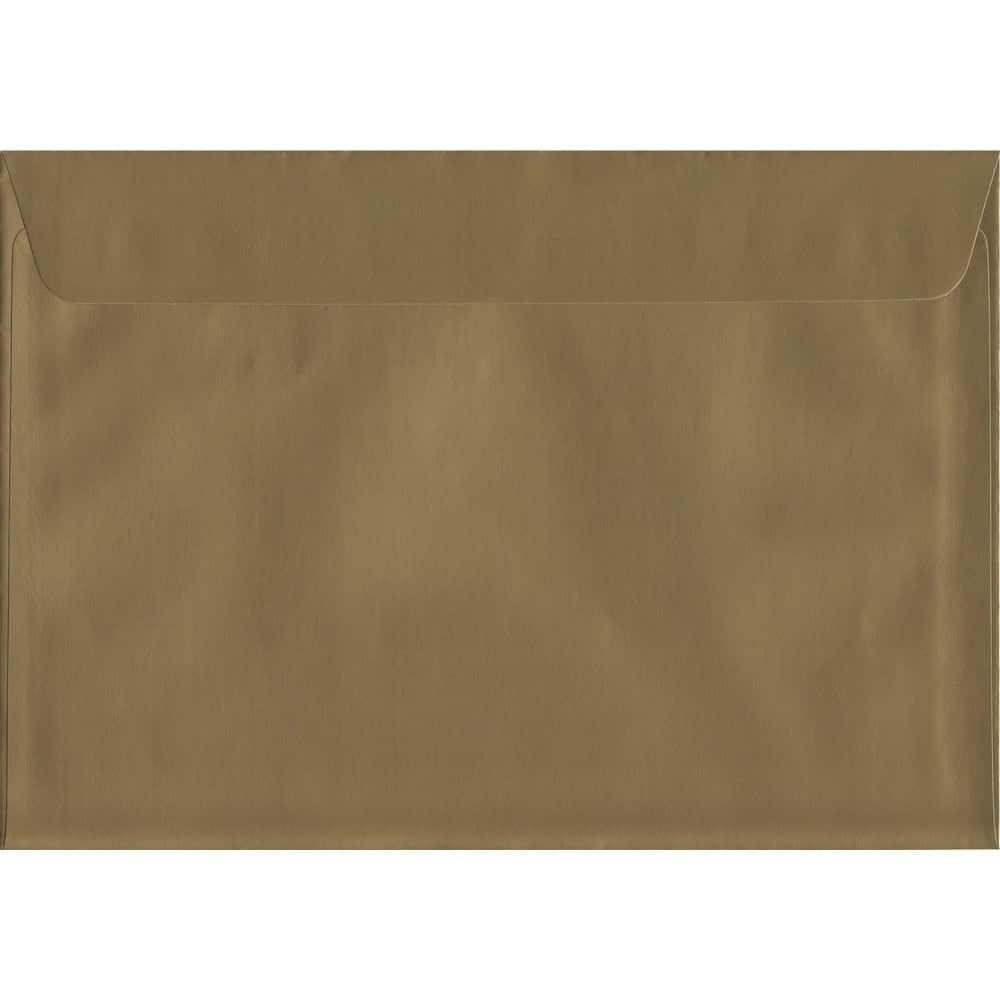 Metallic Gold Peel/Seal C5 162mm x 229mm 130gsm Luxury Coloured Envelope