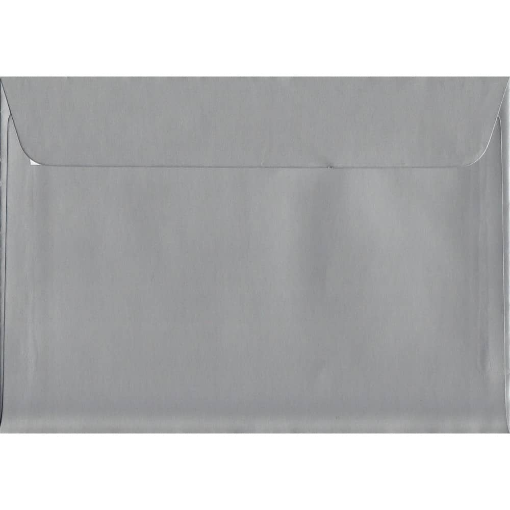 Metallic Silver Peel/Seal C6 114mm x 162mm 130gsm Luxury Coloured Envelope