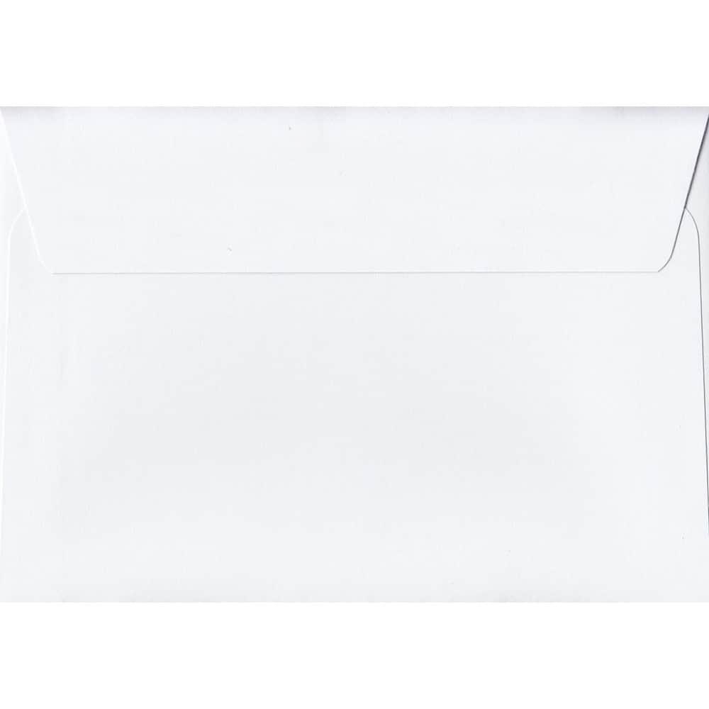 White 114mm x 162mm 120gsm Peel/Seal C6/Quarter A4 Sized Envelope