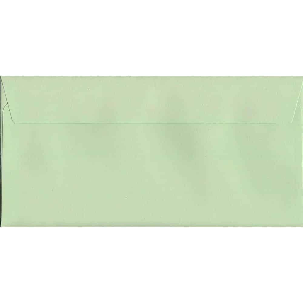 Spearmint Green Peel/Seal DL 114mm x 229mm 120gsm Luxury Coloured Envelope