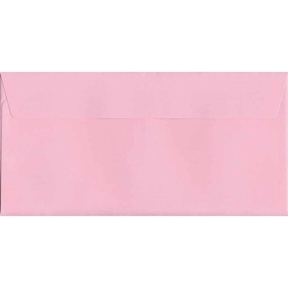 Baby Pink Peel/Seal DL 114mm x 229mm 120gsm Luxury Coloured Envelope