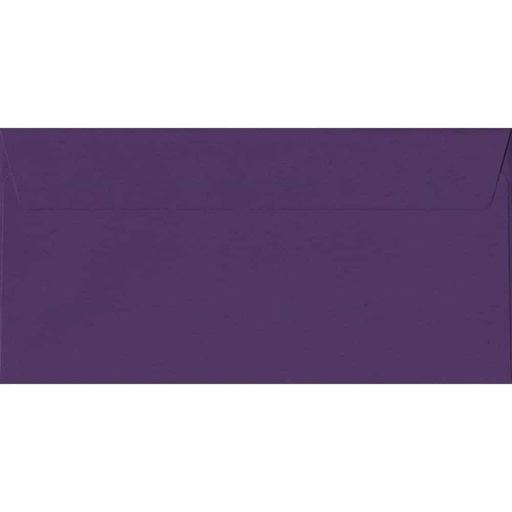 Blackcurrant 114mm x 229mm 120gsm Peel/Seal DL/Tri-Fold A4 Sized Envelope