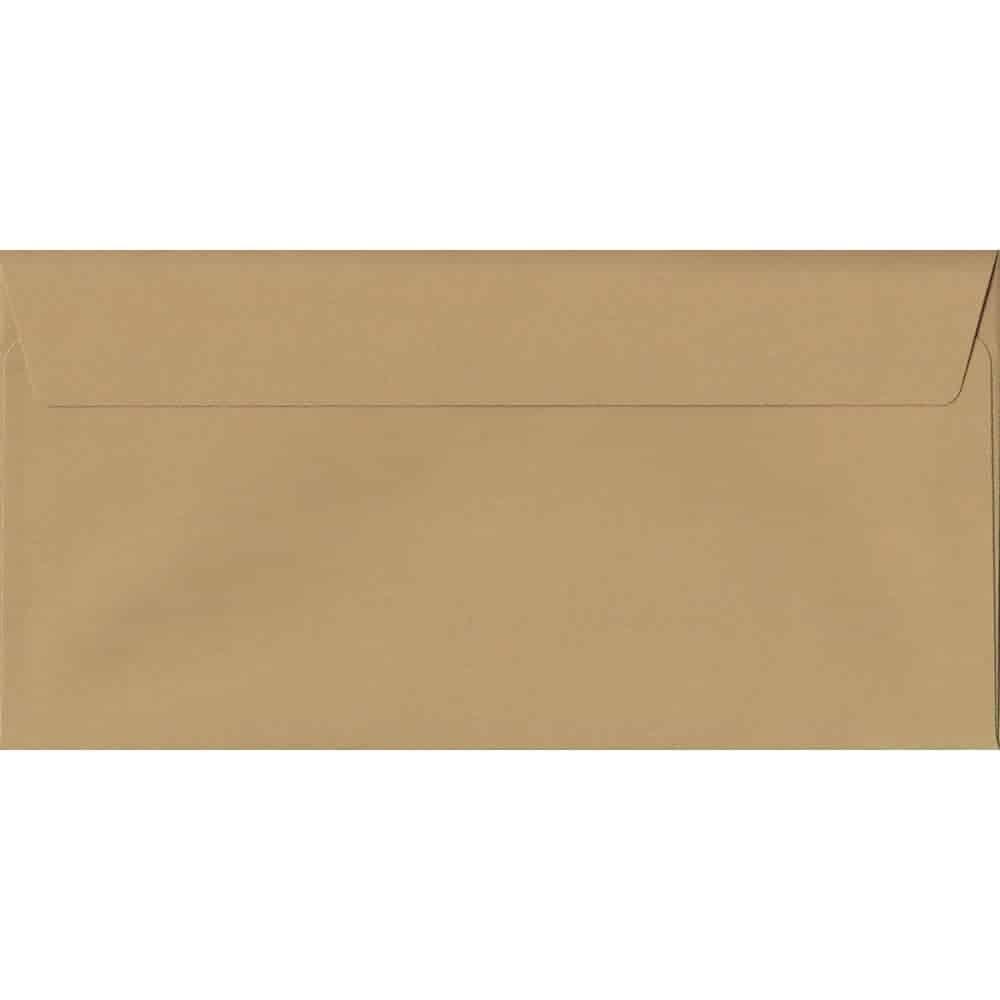 Biscuit Beige 114mm x 229mm 120gsm Peel/Seal DL/Tri-Fold A4 Sized Envelope