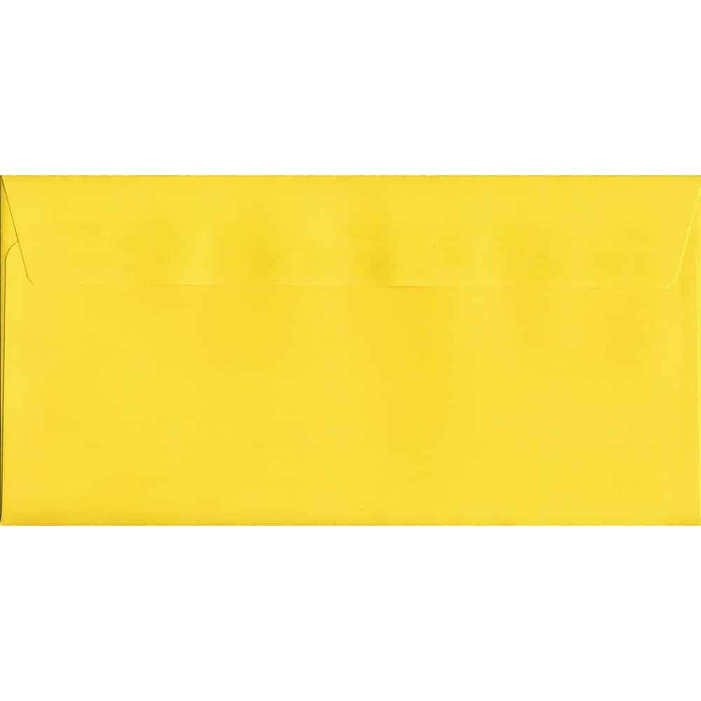 Canary Yellow Peel/Seal DL 114mm x 229mm 120gsm Luxury Coloured Envelope