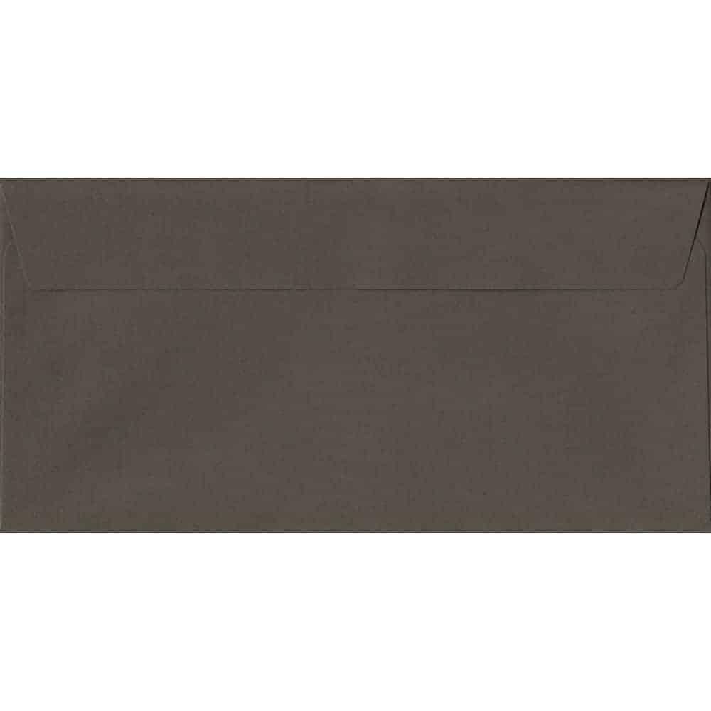 Graphite Grey 114mm x 229mm 120gsm Peel/Seal DL/Tri-Fold A4 Sized Envelope