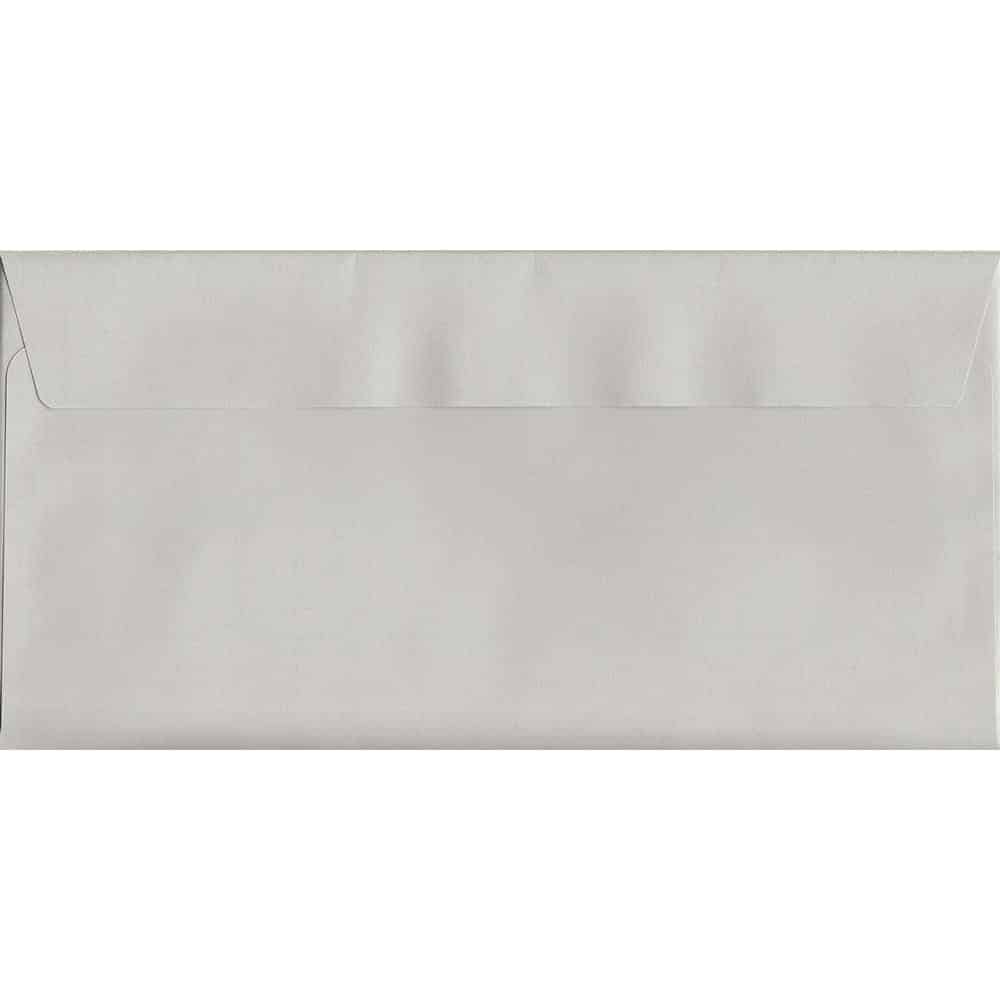 French Grey Peel/Seal DL 114mm x 229mm 120gsm Luxury Coloured Envelope