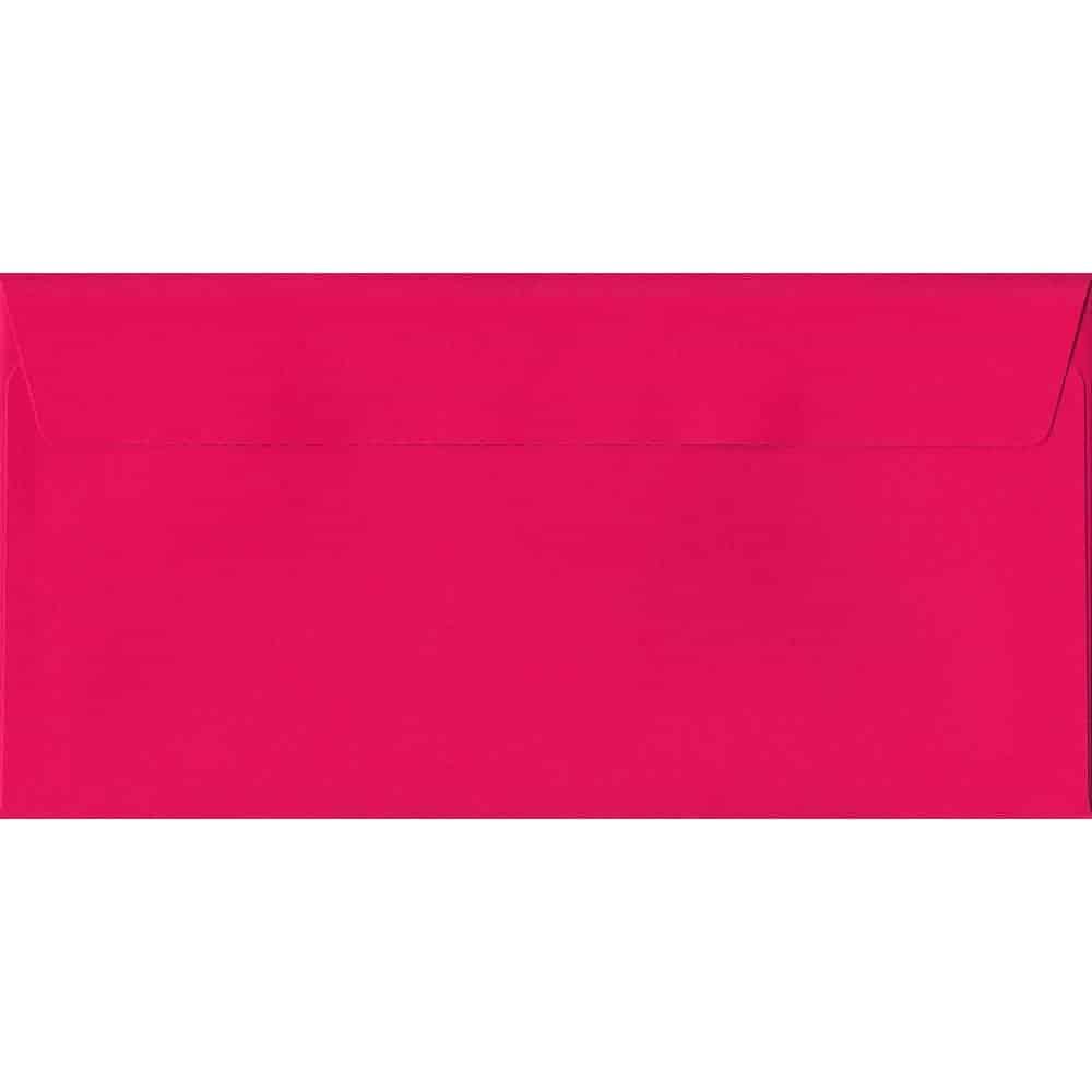 Shocking Pink 114mm x 229mm 120gsm Peel/Seal DL/Tri-Fold A4 Sized Envelope