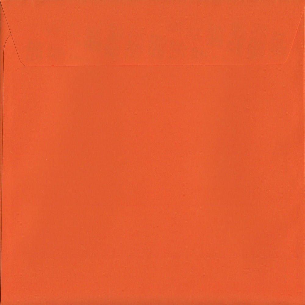 Sunset Orange Peel/Seal S2 220mm x 220mm 120gsm Luxury Coloured Envelope