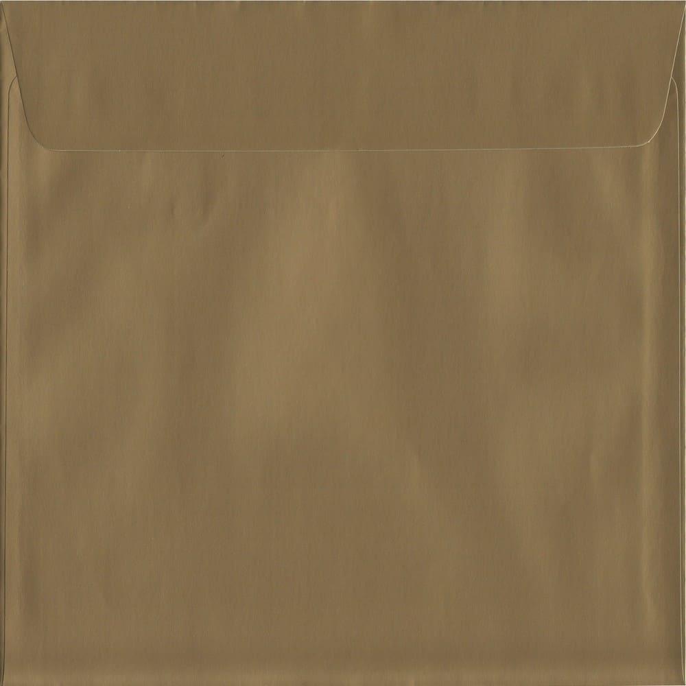 Metallic Gold Peel/Seal S3 160mm x 160mm 130gsm Luxury Coloured Envelope