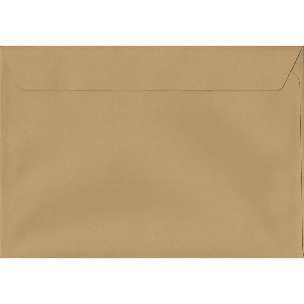 50 A4 Beige Envelopes. Biscuit Beige. 229mm x 324mm. 120gsm paper. Peel/Seal Flap.
