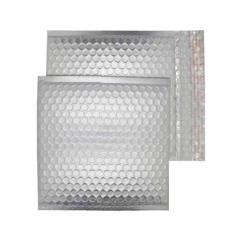Brushed Chrome Matt 165mm x 165mm Bubble Lined Envelopes (Box Of 100)