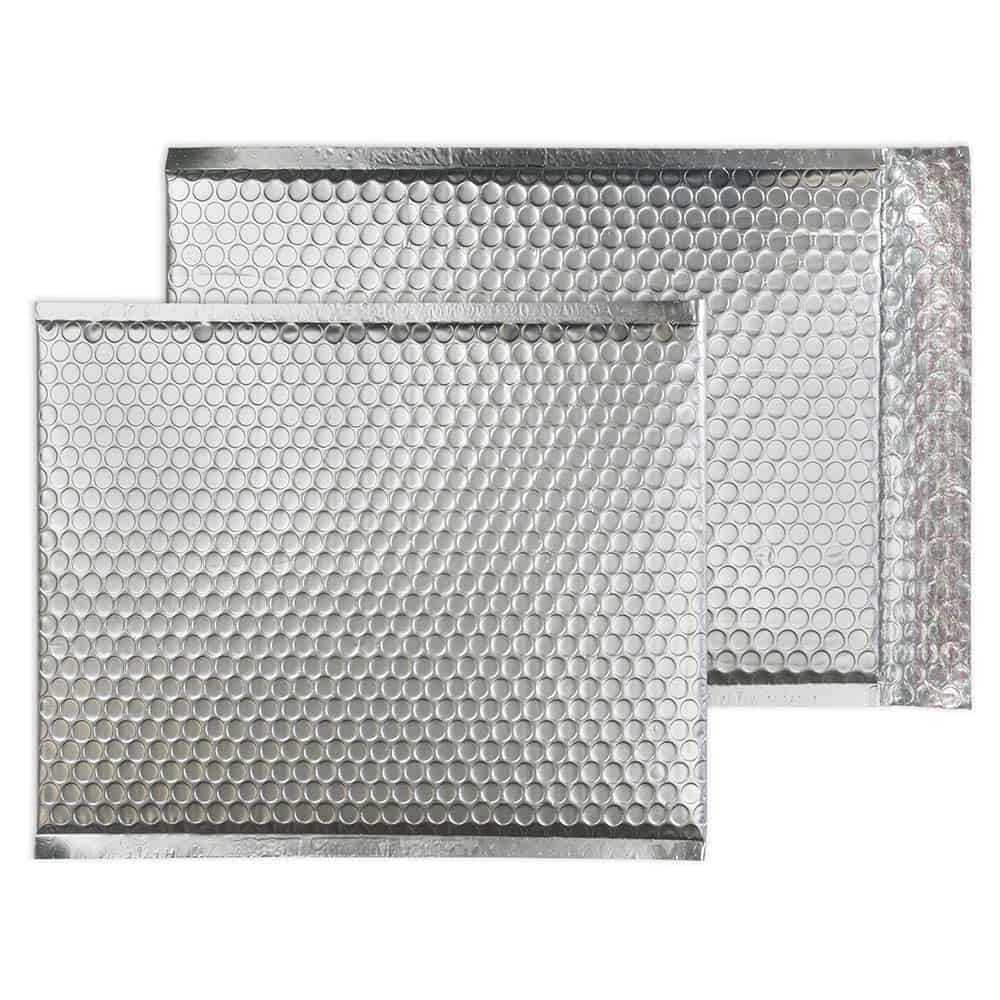 Brushed Chrome Matt 324mm x 230mm Bubble Lined Envelopes (Box Of 100)