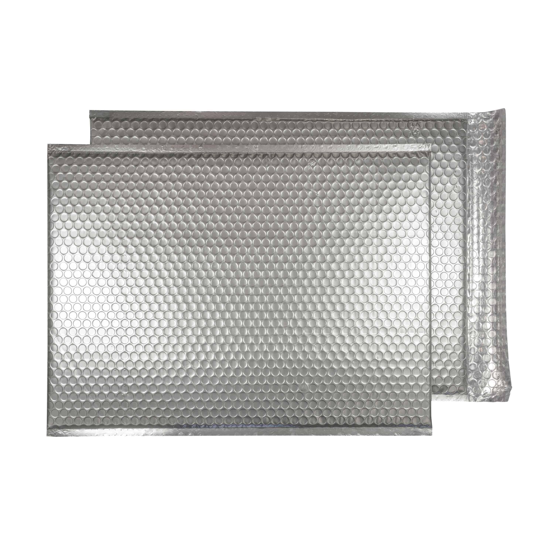 Brushed Chrome Matt 450mm x 324mm Bubble Lined Envelopes (Box Of 50)