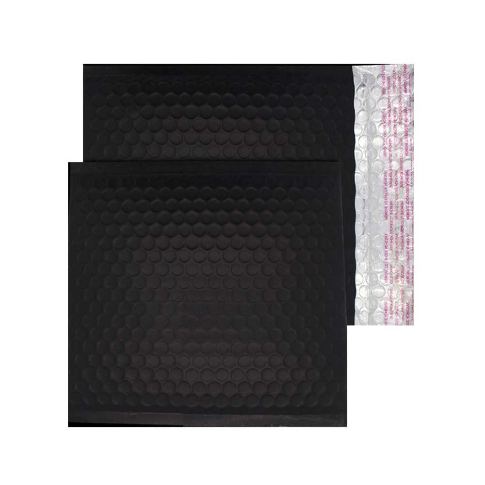 Charcoal Black Matt 165mm x 165mm Bubble Lined Envelopes (Box Of 100)