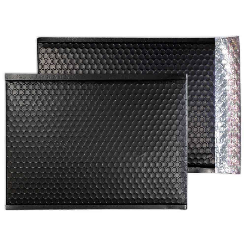 Charcoal Black Matt 450mm x 324mm Bubble Lined Envelopes (Box Of 50)