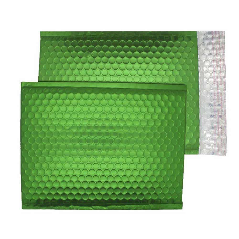 Beetle Green Matt 250mm x 180mm Bubble Lined Envelopes (Box Of 100)