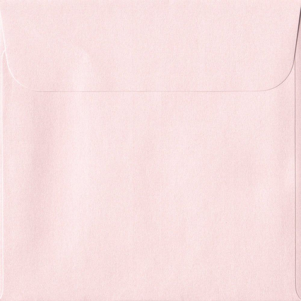 160mm x 160mm Ballerina Pink Pearlescent Envelope. Square Paper Size. Peel/Seal Flap. 120gsm Paper.