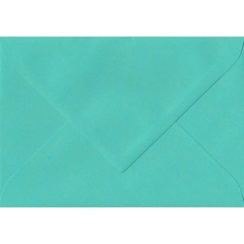 135mm x 191mm Emerald Green Laid Envelope. 5x7 Paper Size. Gummed Flap. 100gsm Paper.