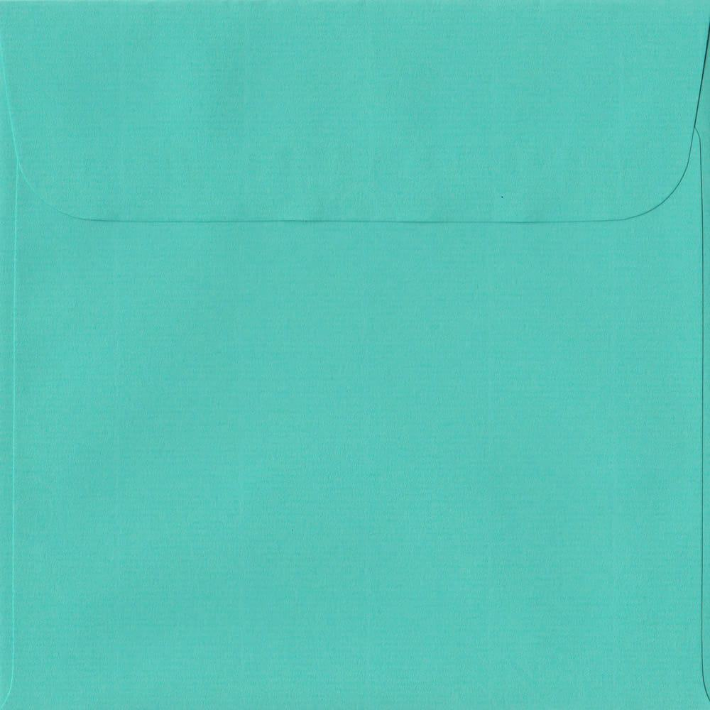 160mm x 160mm Emerald Green Laid Envelope. Square Paper Size. Peel/Seal Flap. 100gsm Paper.