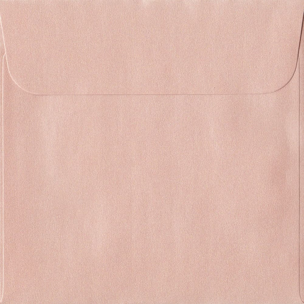160mm x 160mm Peach Pearlescent Envelope. Square Paper Size. Peel/Seal Flap. 120gsm Paper.