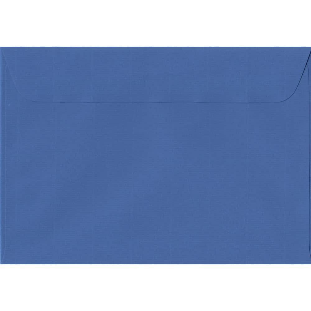 162mm x 229mm Royal Blue Laid Envelope. C5/A5 Paper Size. Peel/Seal Flap. 100gsm Paper.