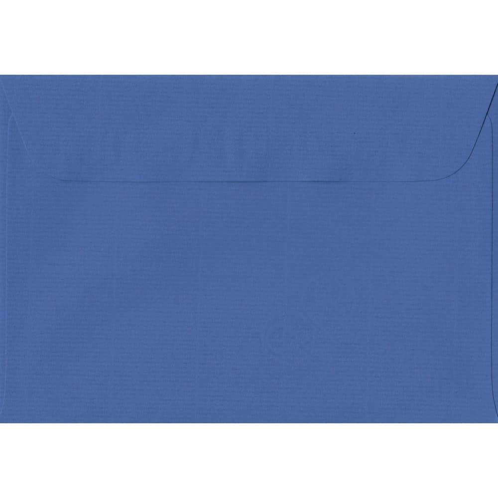 114mm x 162mm Royal Blue Laid Envelope. C6/A6 Paper Size. Peel/Seal Flap. 100gsm Paper.