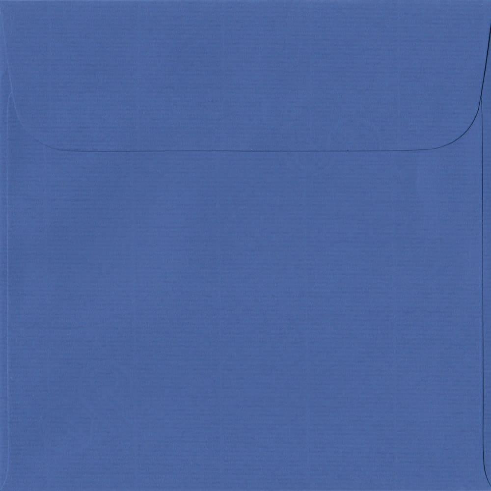 160mm x 160mm Royal Blue Laid Envelope. Square Paper Size. Peel/Seal Flap. 100gsm Paper.