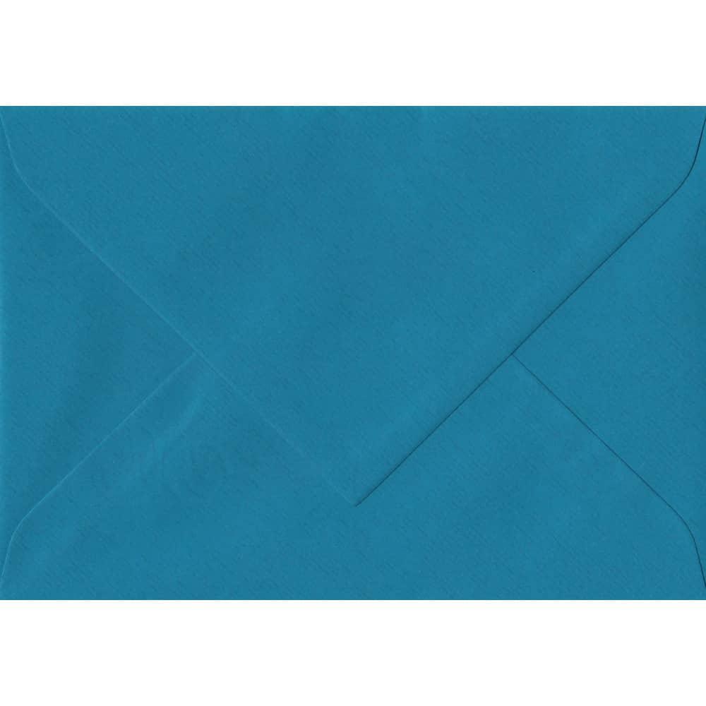 135mm x 191mm Petrol Blue Laid Envelope. 5x7 Paper Size. Gummed Flap. 100gsm Paper.