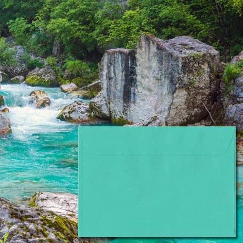 Emerald Green Laid Envelopes