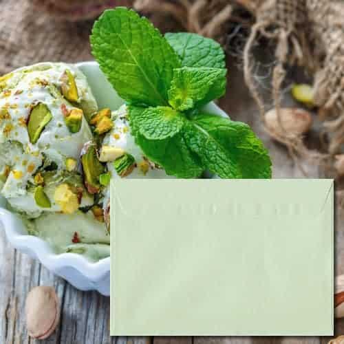 Pistachio Green Pearl Envelopes