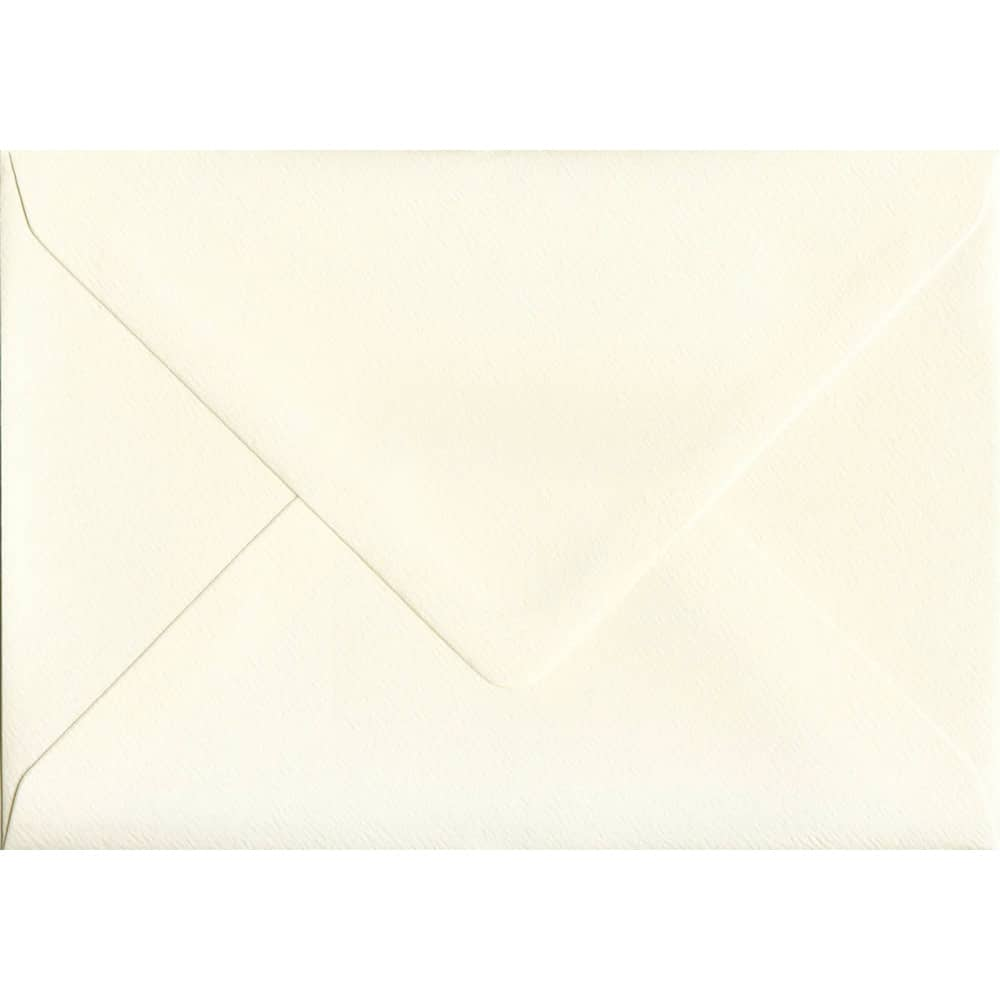 114mm x 162mm Magnolia Textured Envelope. C6 (to fit A6) Size. Gummed Flap. 100gsm Paper.