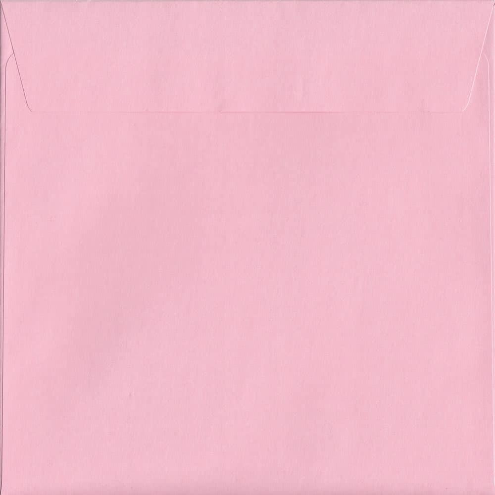 500 Baby Pink 160mm x 160mm 120gsm Peel/Seal Coloured Envelopes