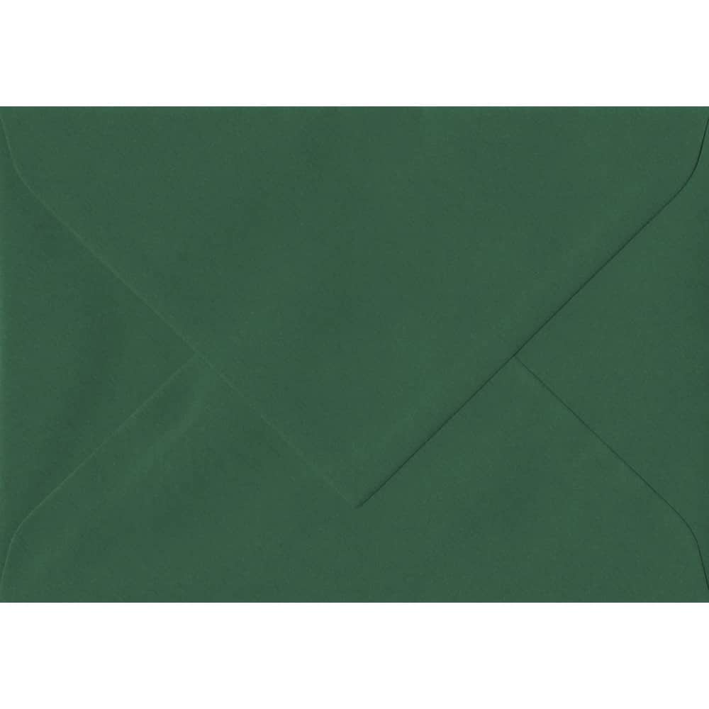 135mm x 191mm Racing Green Laid Envelope. 5x7 Paper Size. Gummed Flap. 100gsm Paper.