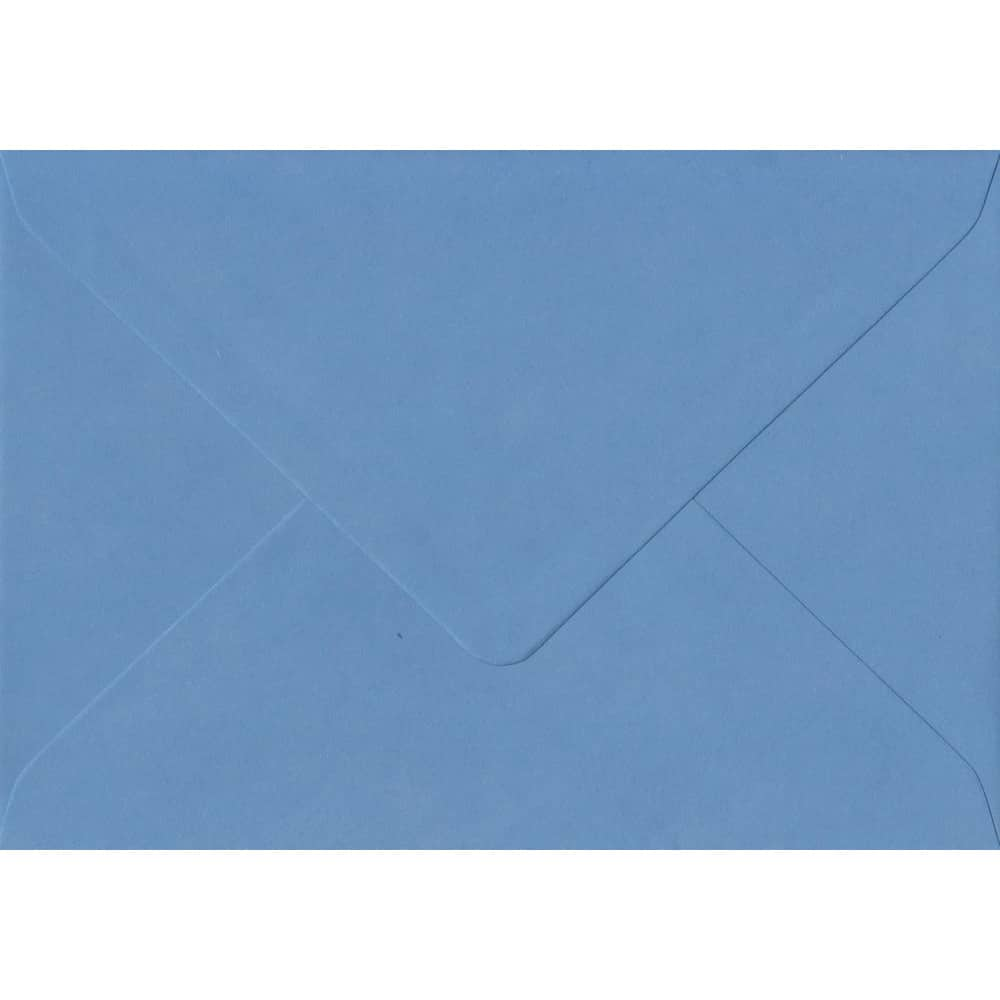 114mm x 162mm China Blue Top Quality Envelope. C6 (to fit A6) Size. Gummed Flap. 100gsm Paper.