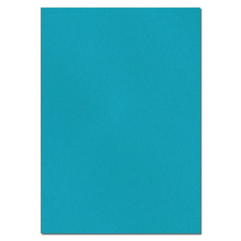 297mm x 210mm Caribbean Blue Extra Thick Paper. A4 Sheet Size. 120gsm Blue Paper.