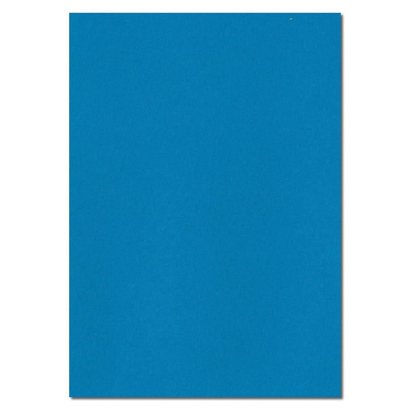 297mm x 210mm Kingfisher Blue Solid Paper. A4 Sheet Size. 100gsm Blue Paper.
