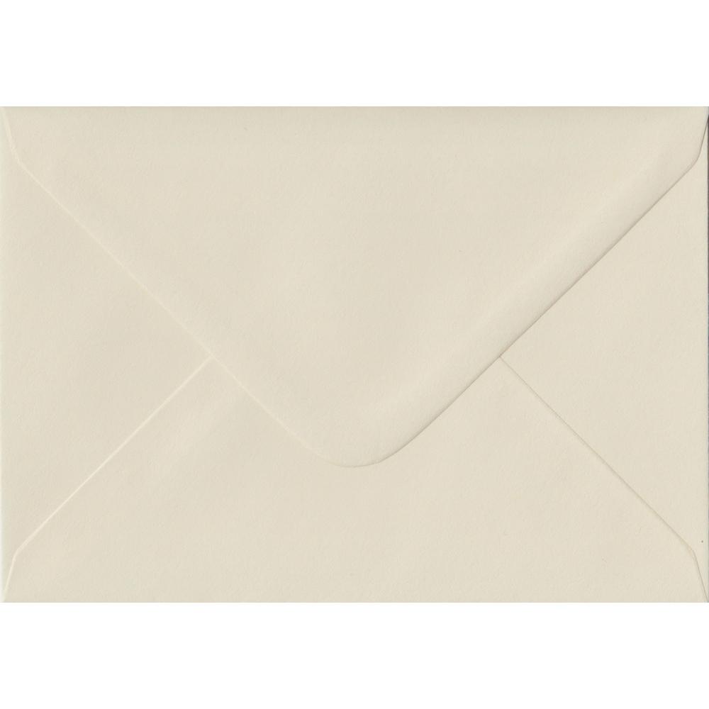 100 A6 Cream Envelopes. Vanilla. 114mm x 162mm. 100gsm paper. Gummed Flap.