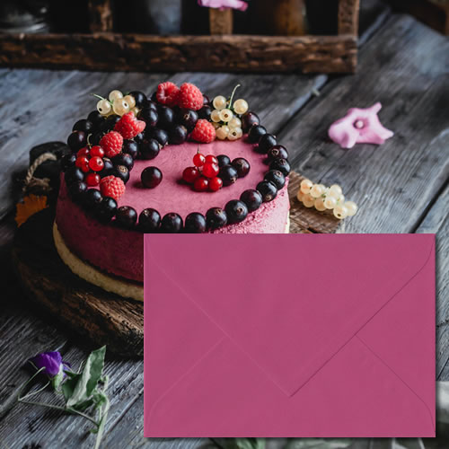 Dark Pink Laid Envelopes