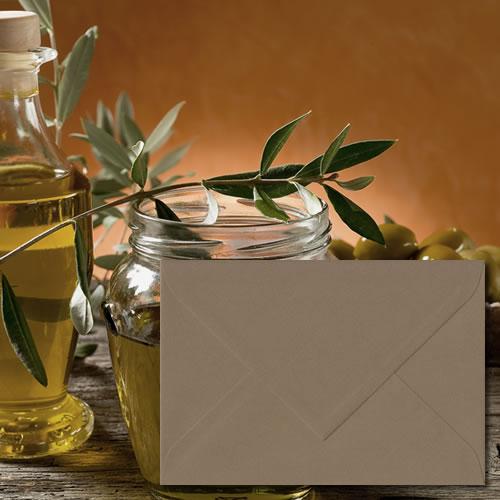 Olive Green Laid Envelopes